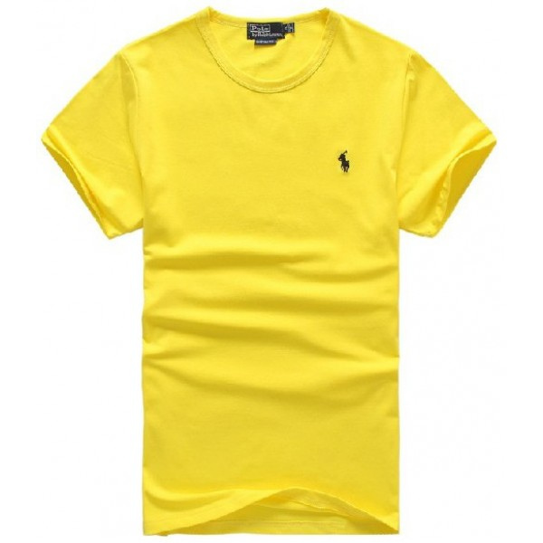 Polo Ralph Lauren Good slim fit pure cotton men tee polo in yellow
