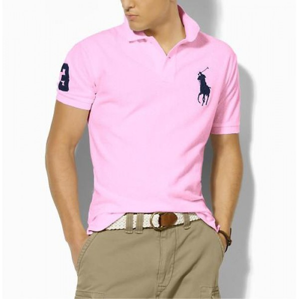 Polo Ralph Lauren Custom-Fit Big Pony Polo In Pink