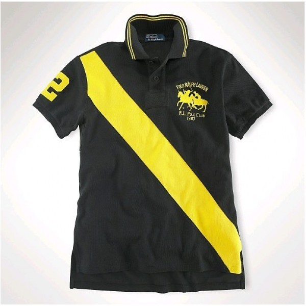 Polo Ralph Lauren Classic-Fit Dual Match Striped Polo Black Yellow