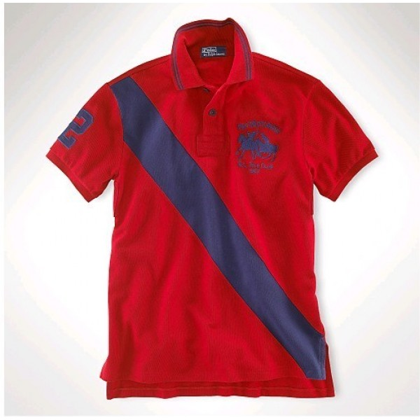Polo Ralph Lauren Classic-Fit Dual Match Striped Polo Red Navy