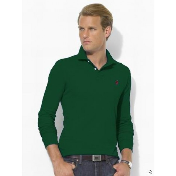 Polo Ralph Lauren Recently launched men long sleeve small pony deep green