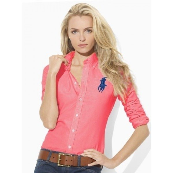 Polo Ralph Lauren Solid Skinny Big Pony Oxford Red