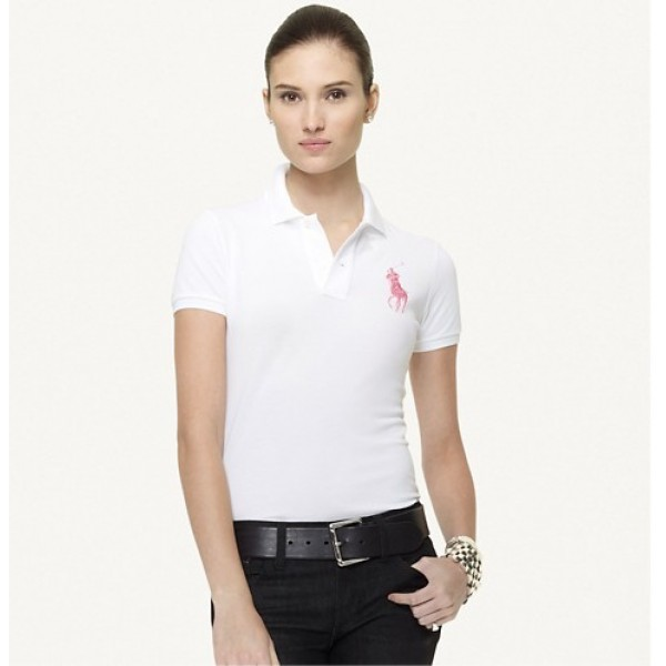 Polo Ralph Lauren Big Pony Polo in White for women
