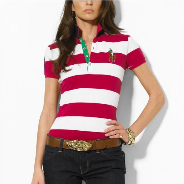 Polo Ralph Lauren Classic-Fit Striped Polo Rose White